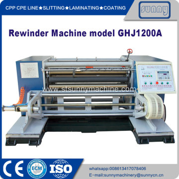 Plastic Film Rewinding Machine